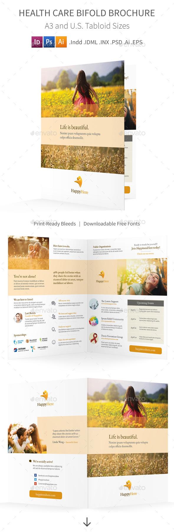 Health Care Bifold / Halffold Brochure - Informational Brochures