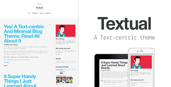 Textual - A Text-Centric WordPress Blog Theme - Personal Blog / Magazine
