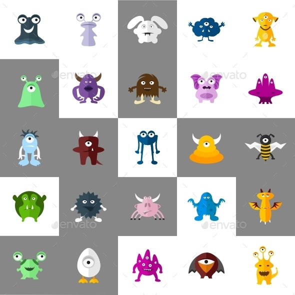 Monsters Icons - Monsters Characters
