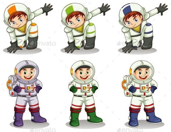 Young Astronauts - People Characters