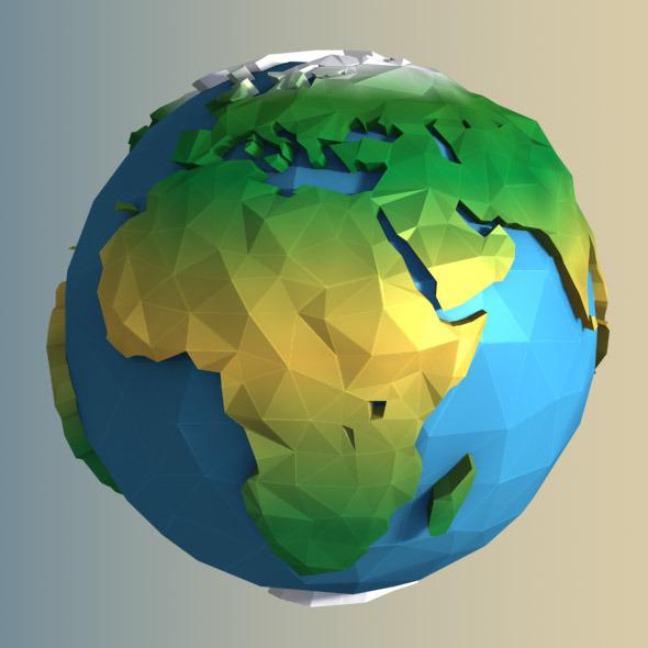 Low Poly Earth By Arakelov 3docean