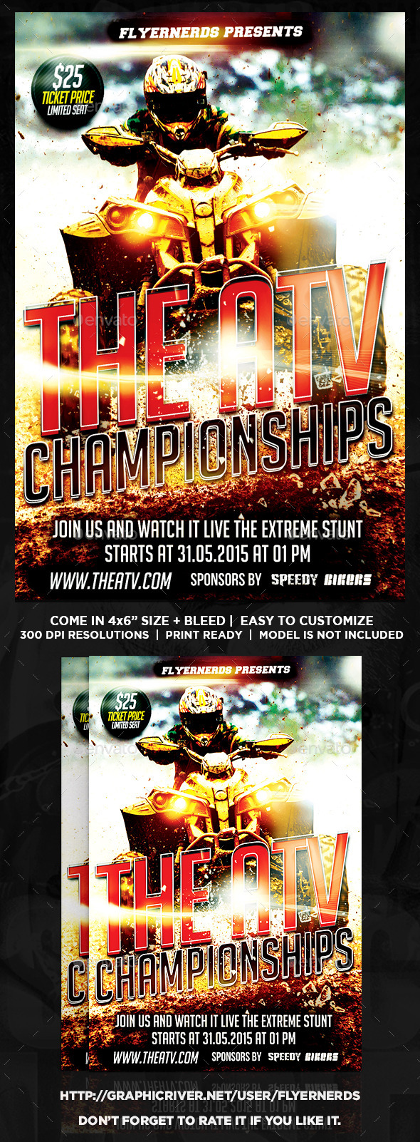 The ATV Championships Sports Flyer - Sports Events