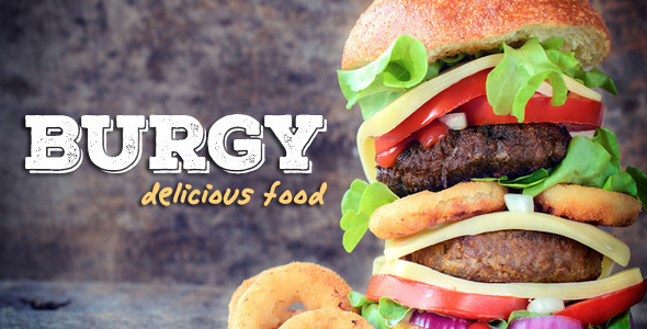BURGY – Fast Food, Burgers, Pizzas, Salads WordPress