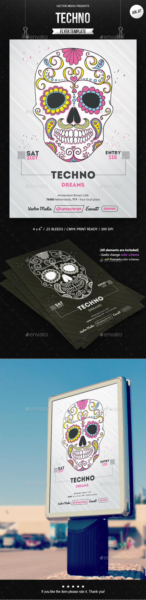 Techno - Flyer [Vol.7] - Clubs & Parties Events