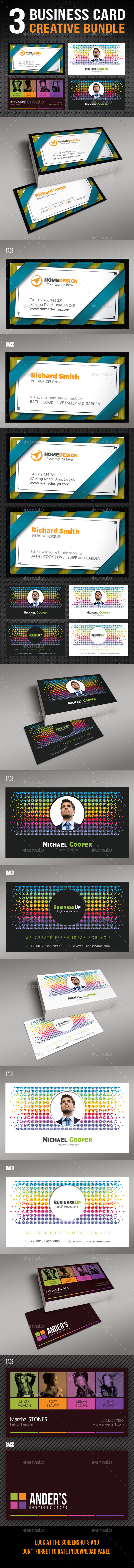 3 in 1 Creative Business Card Bundle - Creative Business Cards