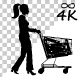 Woman Walk With Baby Cart - 84