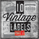 10 Vintage Label and Badges Part II