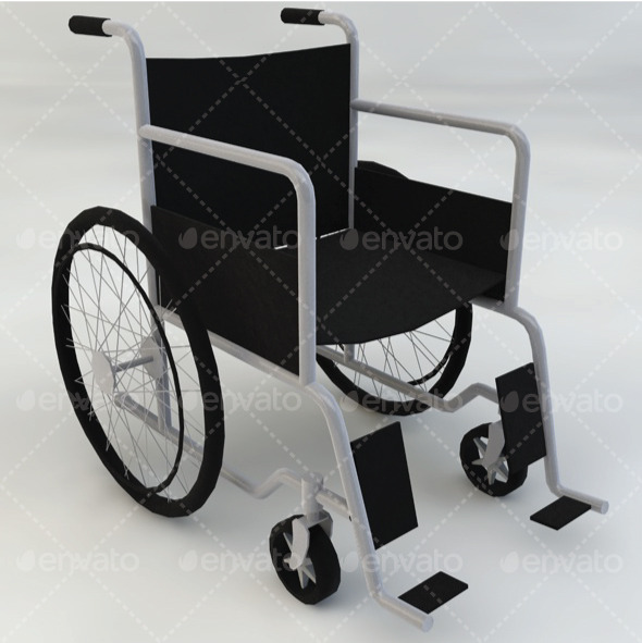 Medical Wheelchair - 3DOcean Item for Sale