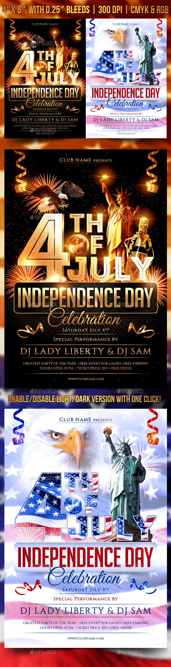 July 4th Independence Day Flyer - Clubs & Parties Events
