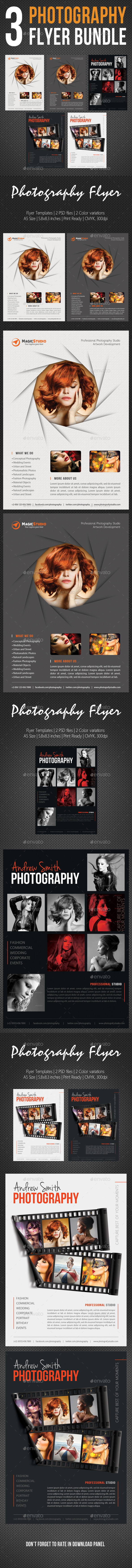 3 in 1 Photography Multipurpose Flyer Bundle 06 - Corporate Flyers
