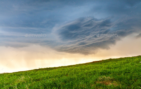 Green hill - Stock Photo - Images
