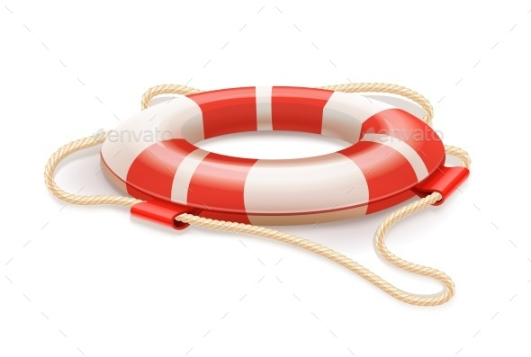 Life Buoy For Drowning Rescue - Man-made Objects Objects