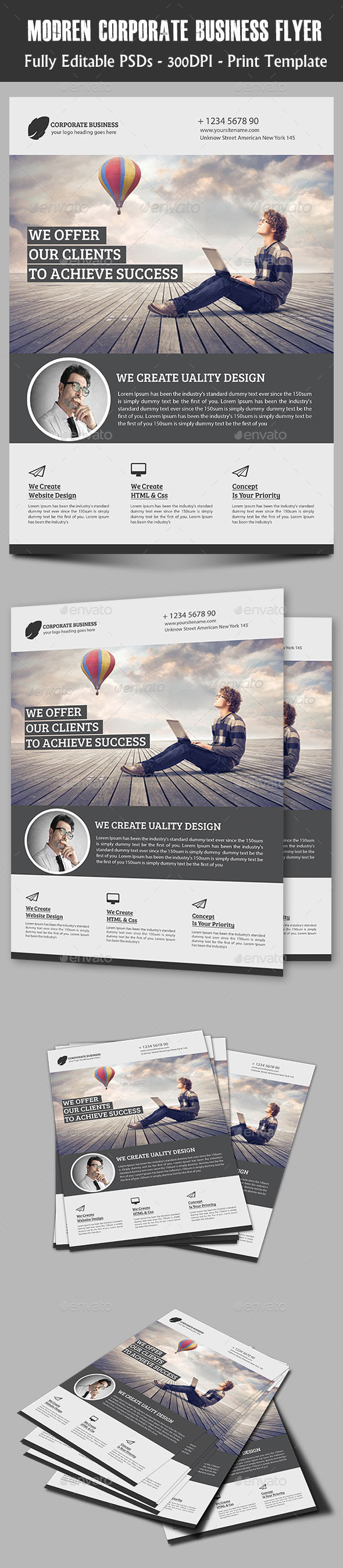 Modern Corporate Flyer - Flyers Print Templates