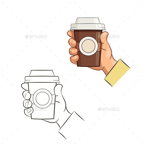 Cup of Coffee in Hand - Food Objects