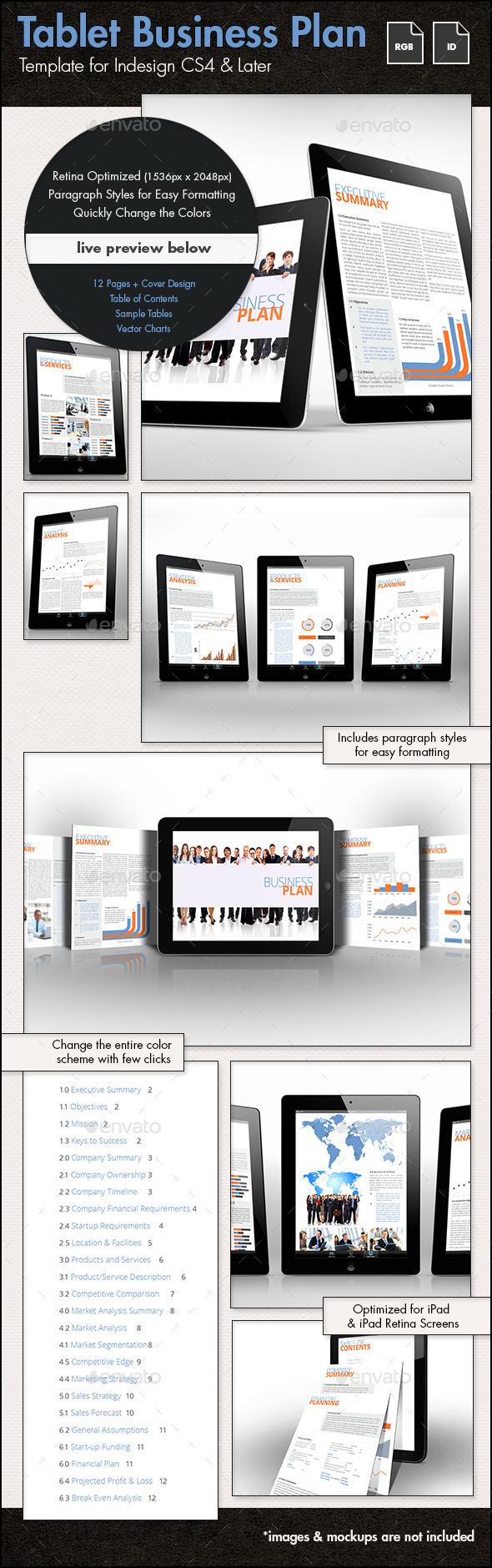 Business Plan Template for Tablets - ePublishing
