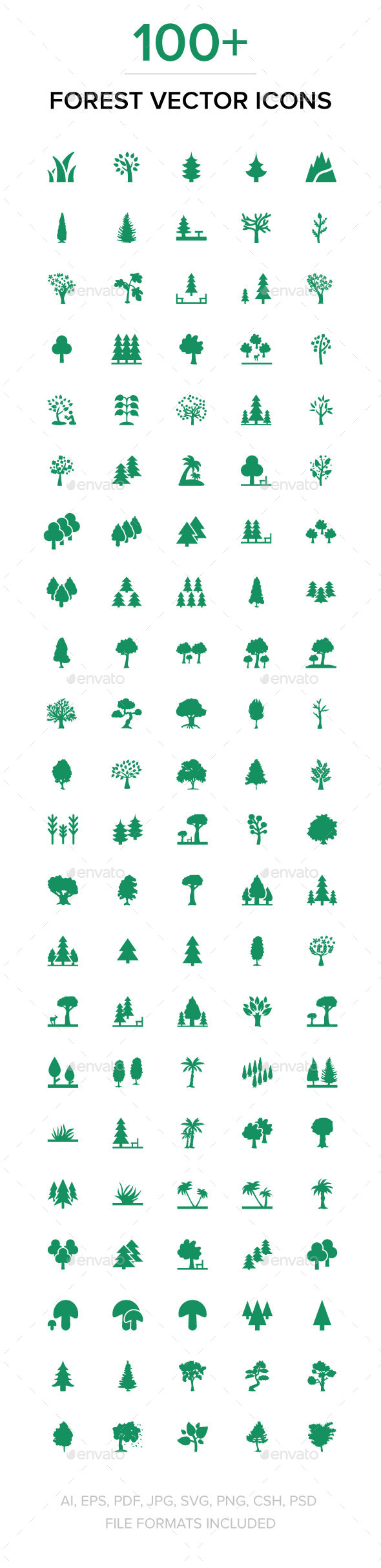 100+ Forest Vector Icons - Icons
