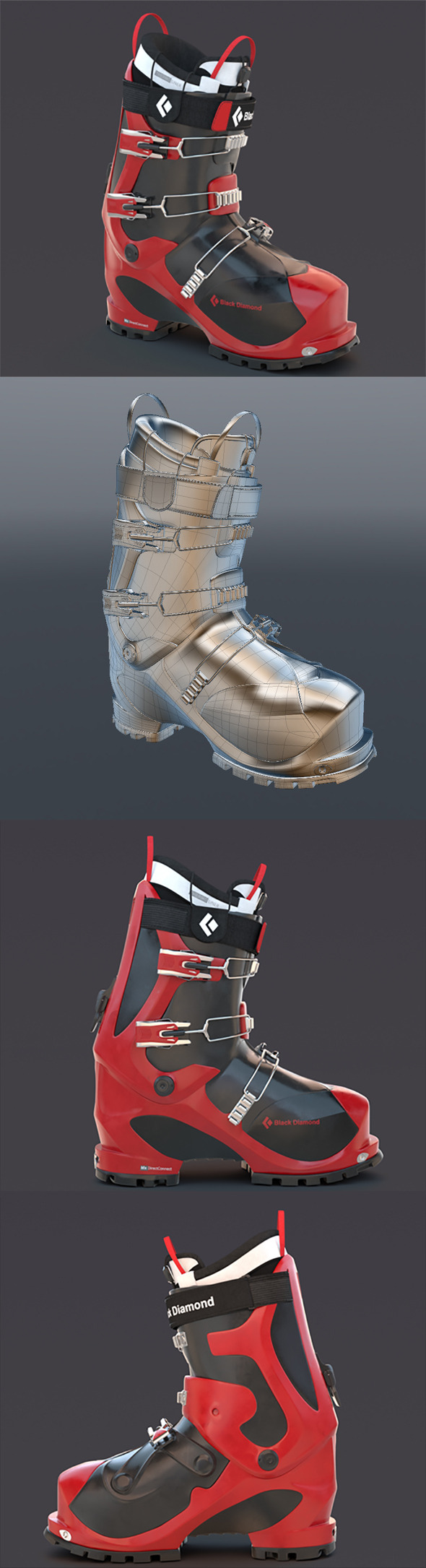 Ski boot - 3DOcean Item for Sale