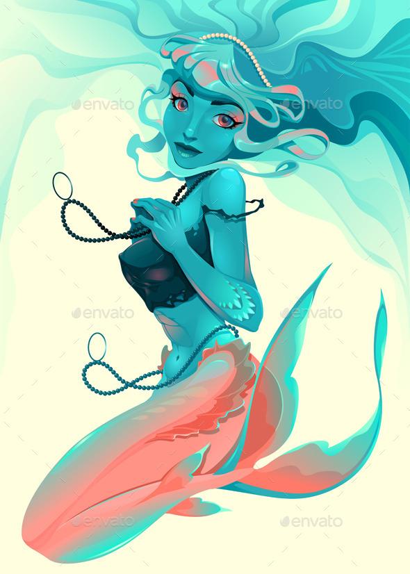 Portrait of a Mermaid - Characters Vectors