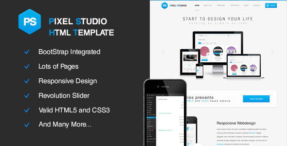Pixel Studios Multi-Purpose HTML Template