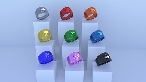 Lantern Rings - 3DOcean Item for Sale