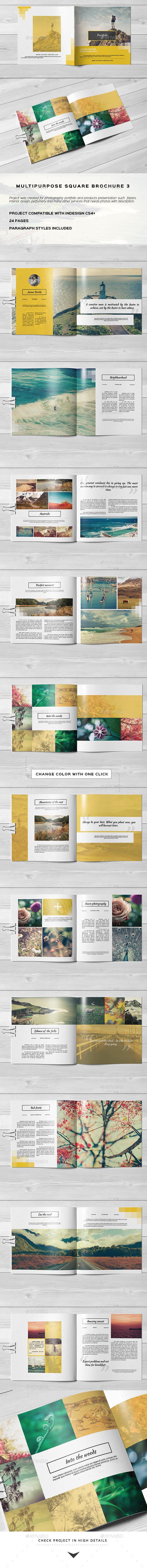 Multipurpose Square Brochure 3 - Portfolio Brochures