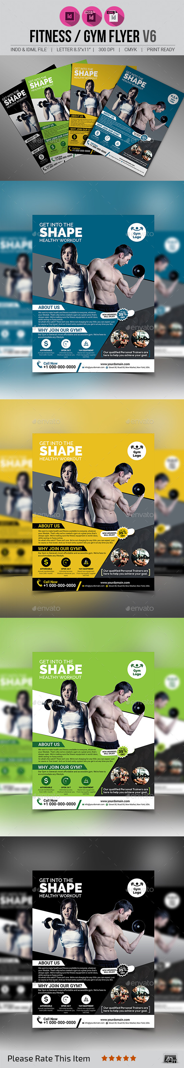 Fitness / Gym Flyer V6 - Sports Events