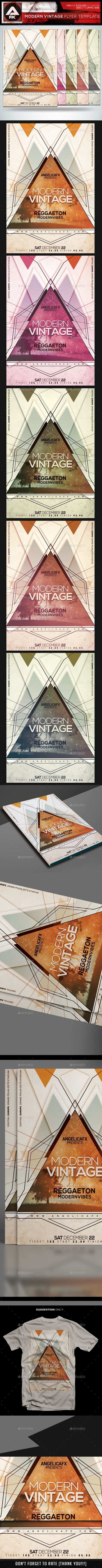 Modern Vintage Flyer Template - Flyers Print Templates