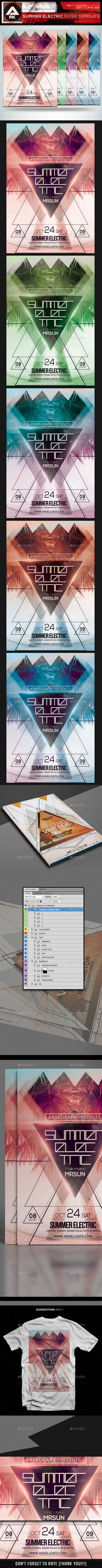 Summer Electric Flyer Template - Flyers Print Templates