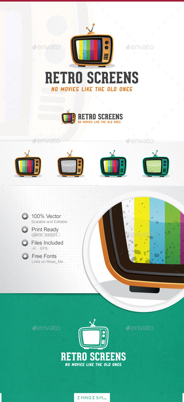 Retro Screens Logo - Objects Logo Templates