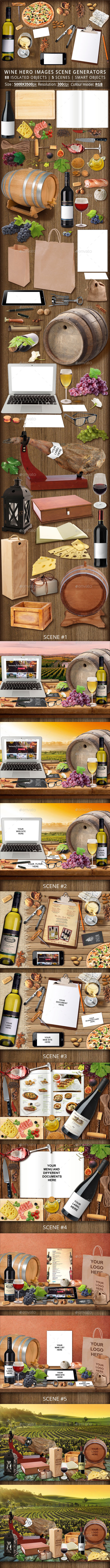 Wine Hero Images Scene Generators - Hero Images Graphics