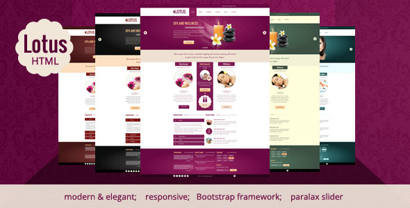 Lotus – Spa & Wellness HTML Responsive Template