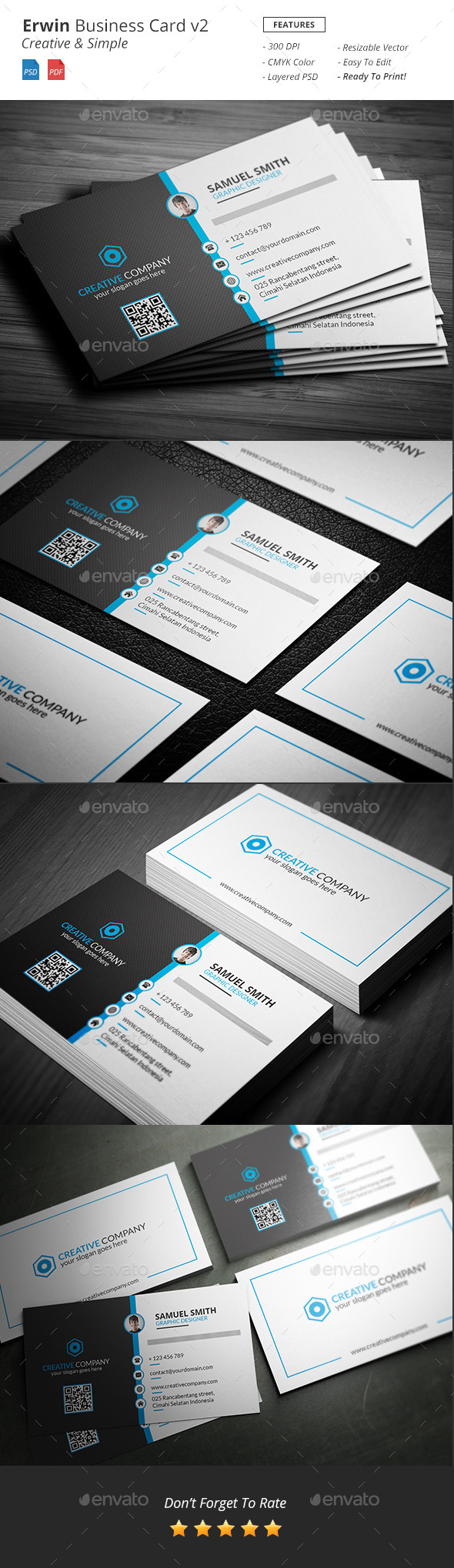 Erwin - Clean Creative Business Card v2 - Creative Business Cards