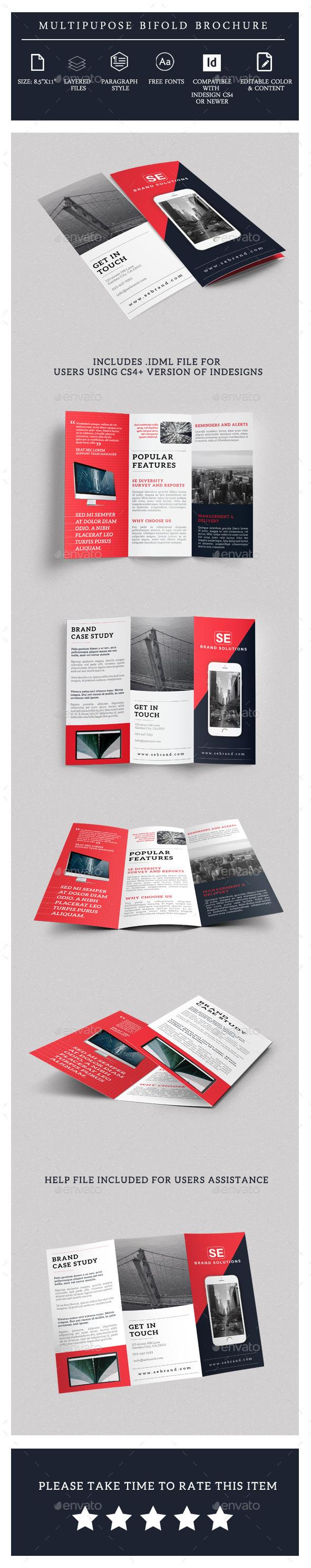 Modern TriFold Brochure Template - Brochures Print Templates