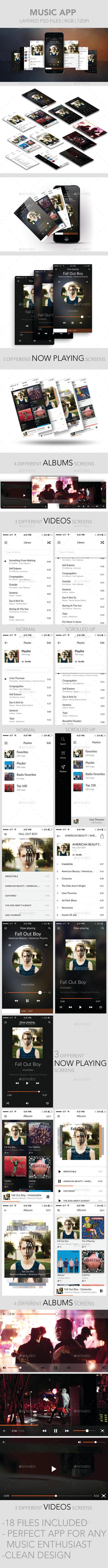 Music App - Web Elements