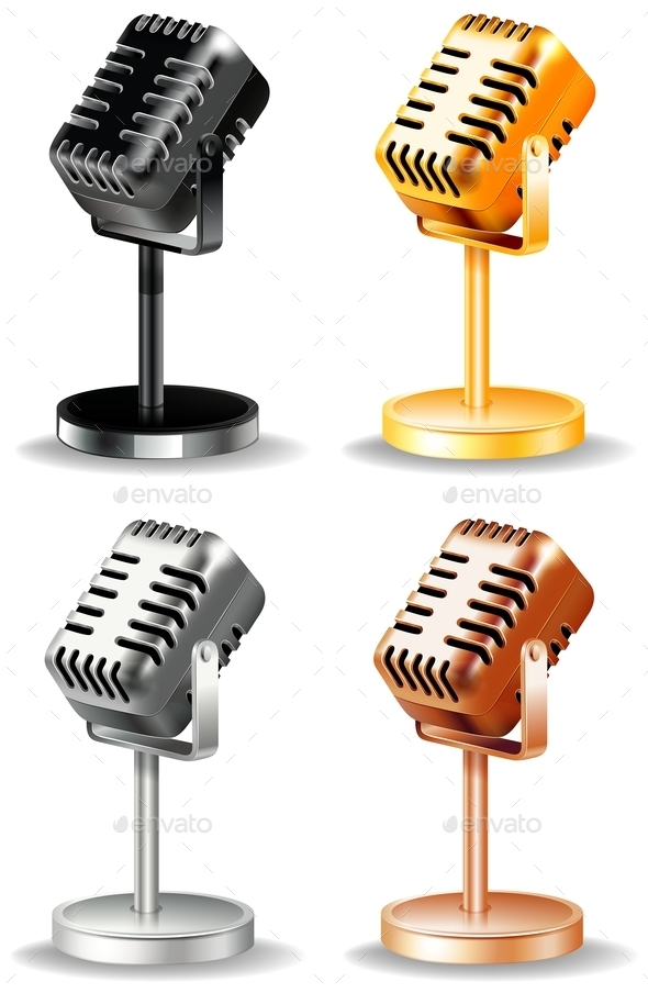 Microphones - Miscellaneous Vectors
