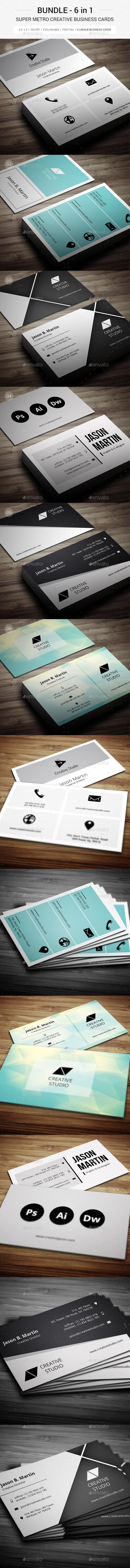 Mega Bundle - Super Metro Business Cards - 116 - Creative Business Cards