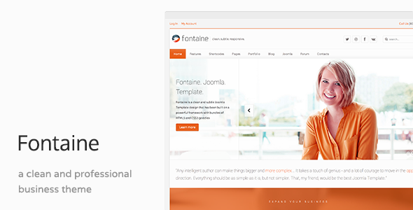 Fontaine – Clean Business Joomla Template