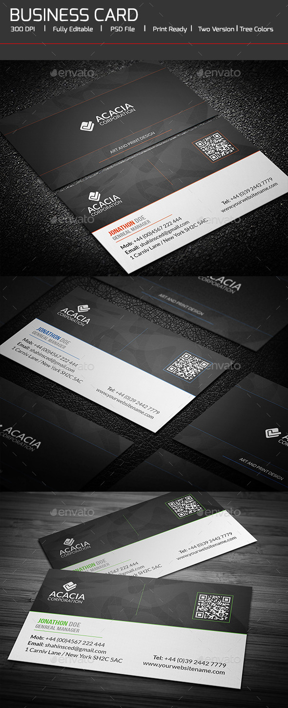 Simple and Clean Business Card - Corporate Business Cards