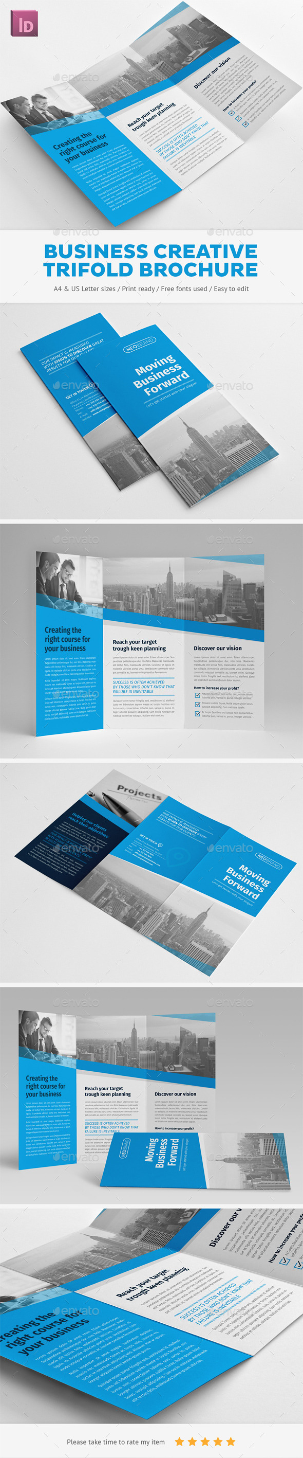 Business Creative Trifold Brochure - Corporate Brochures