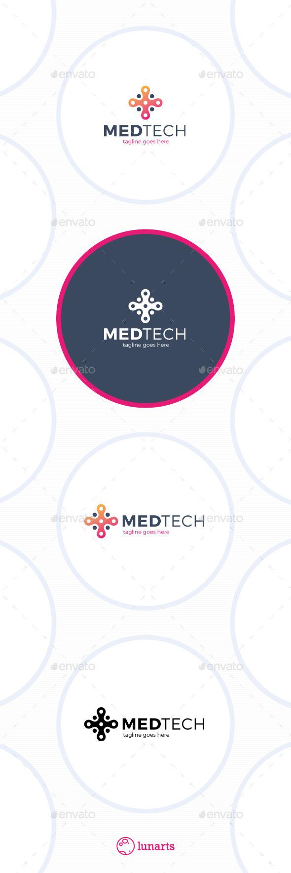 Medical Tech Logo - Plus - Symbols Logo Templates