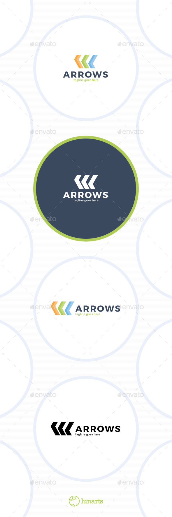 Three Arrows Logo - Letter K - Symbols Logo Templates