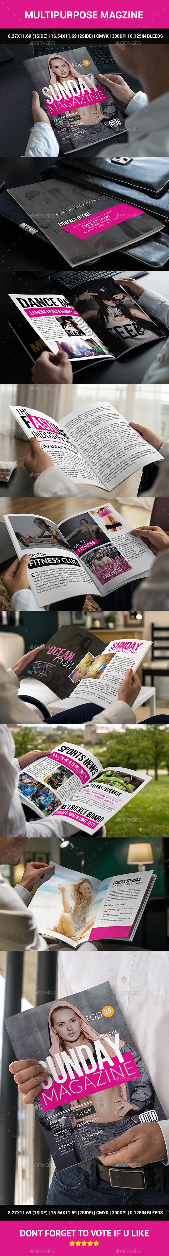 Multipurpose Magzine - Magazines Print Templates
