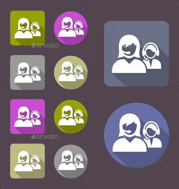 Call Center Icon - Web Icons