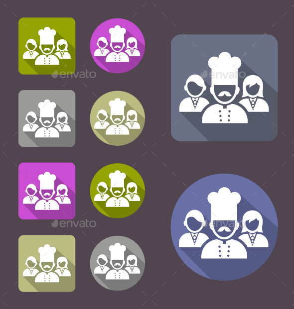 Restaurant Workers Icon - Web Icons