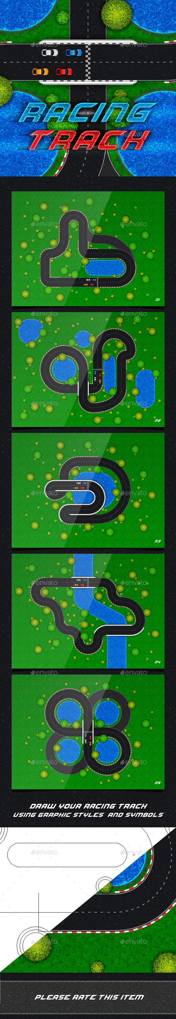 Racing Track. Game Asset - Miscellaneous Game Assets