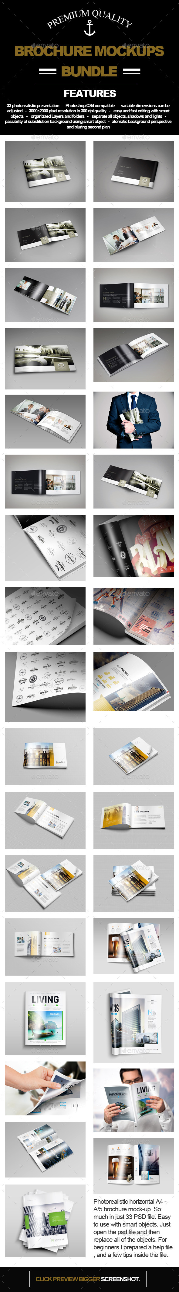A/4 A/5 Brochure Big Bundle - Brochures Print