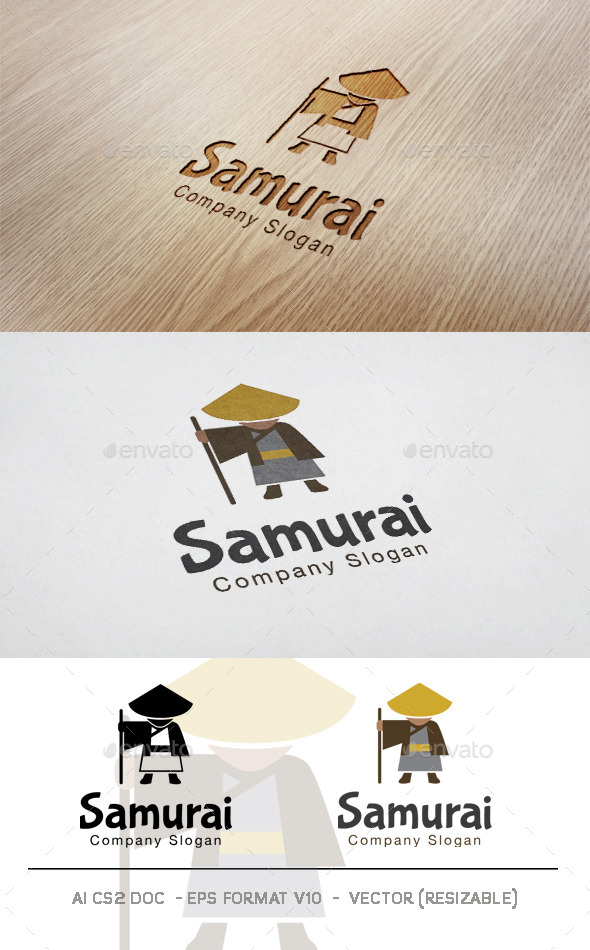 Samurai V2 Logo  - Humans Logo Templates