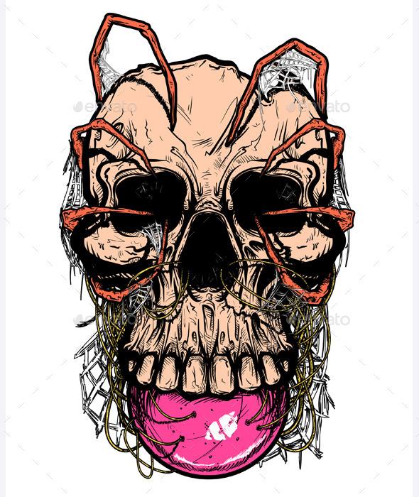 Shirt Design: Skull - Vectors