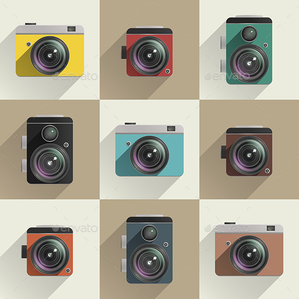 Camera Icons  - Man-made Objects Objects