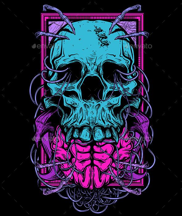Shirt Design: Skull 2 - Vectors